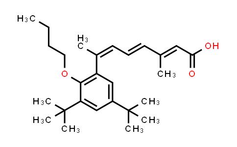 224774-78-1   (2E,4E,6Z)-7-[2-Butoxy-3,5-bis(1,1-dimethylethyl)phenyl]-3-methyl-2,4,6-octatrienoic acid