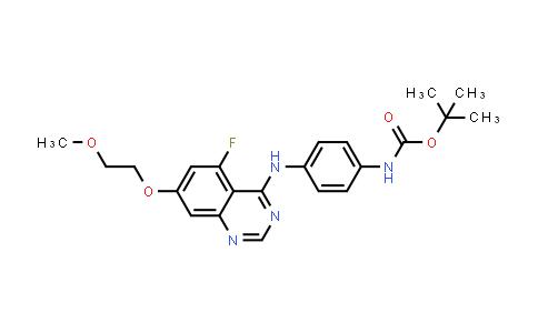 2248003-87-2 | tert-Butyl (4-((5-fluoro-7-(2-methoxyethoxy)quinazolin-4-yl)amino)phenyl)carbamate