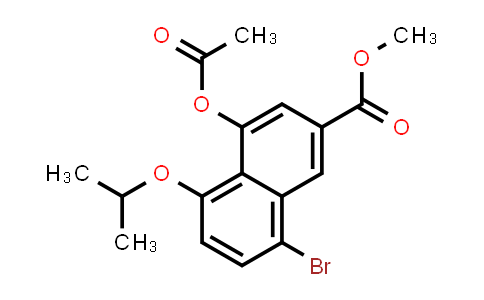 225114-49-8 | 2-Naphthalenecarboxylic acid, 4-(acetyloxy)-8-bromo-5-(1-methylethoxy)-, methyl ester