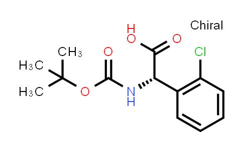 225918-60-5 | (S)-2-((tert-Butoxycarbonyl)amino)-2-(2-chlorophenyl)acetic acid
