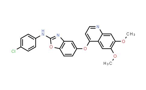 769960-73-8 | 2-Benzoxazolamine, N-(4-chlorophenyl)-5-[(6,7-dimethoxy-4-quinolinyl)oxy]-