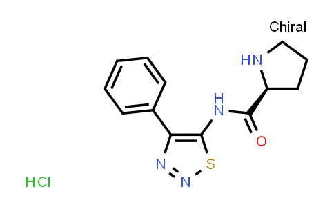 MC576489   873581-19-2   (S)-N-(4-phenyl-1,2,3-thiadiazol-5-yl)pyrrolidine-2-carboxamide hydrochloride