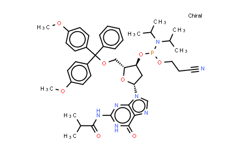 DY580770 | 93183-15-4 | 5'-O-(4,4'-Dimethoxytrityl)-N-isobutyryl-2'-deoxyguanosine-3'-(2-cyanoethyl-N,N-diisopropyl)phosphoramidite