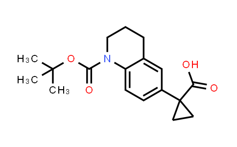 DY585294 | 1898351-36-4 | 1-(1-tert-butoxycarbonyl-3,4-dihydro-2H-quinolin-6-yl)cyclopropanecarboxylic acid