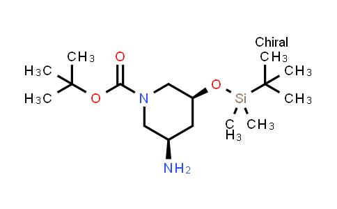DY585313 | 1792185-06-8 | tert-butyl (3R,5S)-3-amino-5-[(tert-butyldimethylsilyl)oxy]piperidine-1-carboxylate