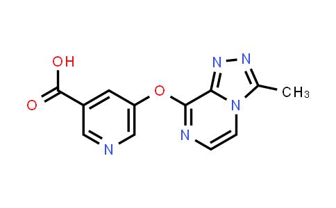 DY585867 | 1421662-49-8 | 5-[(3-methyl-[1,2,4]triazolo[4,3-a]pyrazin-8-yl)oxy]pyridine-3-carboxylic acid