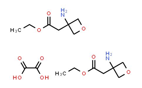 DY585974   1523618-27-0   ethyl 2-(3-aminooxetan-3-yl)acetate hemioxalate