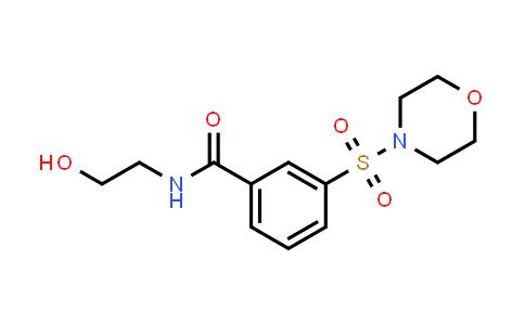 DY586406 | 379254-39-4 | N-(2-hydroxyethyl)-3-(morpholine-4-sulfonyl)benzamide