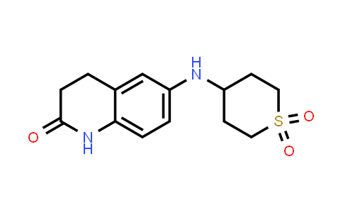 DY586413 | 1157388-84-5 | 4-[(2-oxo-1,2,3,4-tetrahydroquinolin-6-yl)amino]-1λ⁶-thiane-1,1-dione