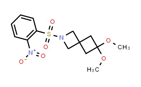 DY586473 | 1374830-30-4 | 6,6-dimethoxy-2-(2-nitrophenyl)sulfonyl-2-azaspiro[3.3]heptane